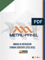 Lamina Acanalada Estructural Losacero 36-30 Manual de Instalacion Boletin Tecnico Metal Panel