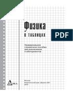 Pets v G - Fizika v Tablitsakh Universalnoe Spravochnoe Posobie Dlya Shkolnikov i Abiturientov 2010 Izdatelstvo DMK Press