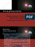 Sharing, Getting and Giving_wykład 1