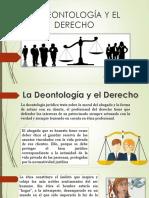 La Deontología y El Derecho Expo. Tony de Leon
