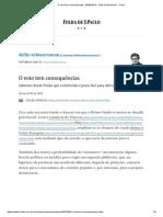 O Voto Tem Consequências - 28-05-2019 - Hélio Schwartsman - Folha