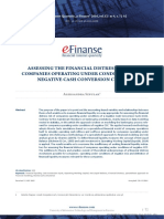 Assessing the Financial Distress Risk of Companies Operating Under Conditions of a Negative Cash Conversion Cycle