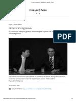 O Fator Congresso - 28-04-2019 - Opinião - Folha