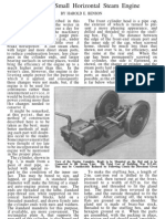 Popular Mechanics Plans-Small Horizontal Steam Engine