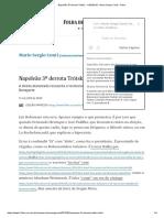 Napoleão 3º Derrota Trótski - 11-05-2019 - Mario Sergio Conti - Folha