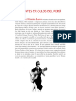 Cantantes Criollos Del Perú