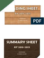 Summary Sheet Folder