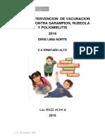 INTERVENCION DE VACUNACION CONTRA SARAMPION, RUBEOLA Y POLIOMIELITIS