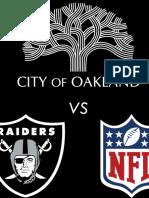 The City Of Oakland vs The Raiders & National Football League