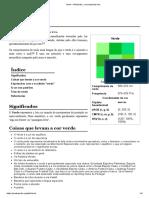 Verde – Wikipédia, A Enciclopédia Livre
