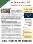 Asamblea Docentes UPR 23 NOV TODOS A CAGUAS