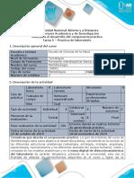 Guía de Actividades y Rúbrica de Evaluación - Unidad 2. Tarea 5 - Practica de Laboratorio