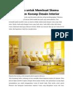 Teori Warna untuk Membuat Skema Warna dalam Konsep Desain Interior