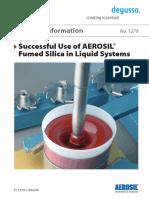 TI 1279 Successful Use of Aerosil Fumed Silica in Liquid System