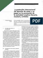 La Proteccion Internacional Del Derecho de Autor