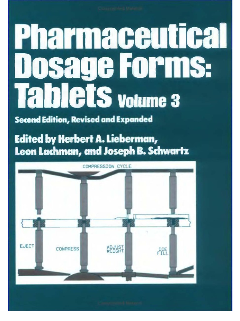 pharmaceutical dosage forms tablets vol 3 tablet pharmacy pharmaceutical dosage forms tablets vol 3 tablet pharmacy industries