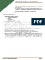 FISICOQUÍMICA Ejercicios de Clase (31 de Octubre de 2019)