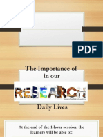 1. the Importance of Research