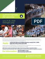 2019-20 Pharmacy Bulldog Camp Flyer