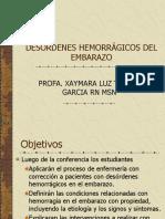 DESÓRDENES HEMORRÁGICOS DEL EMBARAZO