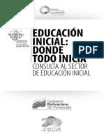 Educacion Inicial. Donde Todo Inicia