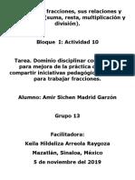 Fracciones, operaciones y relaciones