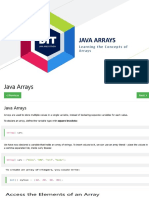 JAVA and Python - Arrays