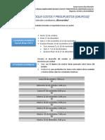 Calendario Desagregado Costos y Presupuestos Grupo 010