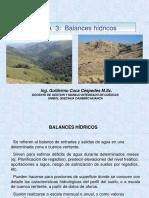 3. Balances Hidricos