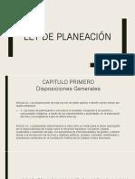 Ley de Planeacion