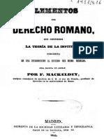 61 Elementos del Derecho Romano - F. Mackeldey.pdf