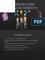 El Derecho Como Normas de Conducta