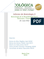 Semiologia de La Sensibilidad - Informe