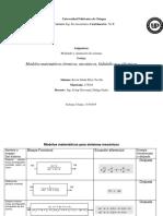 Tabla de Modelos Matematicos