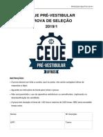 2019-1 Prova de Seleção
