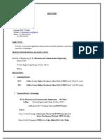 Resume 2007 New