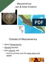 Mesoamerica, Mayan and Aztecs
