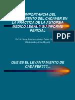 2.-La Importancia Del Levantamiento Del Cadaver en La