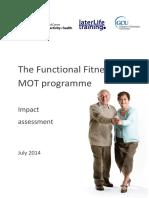 Functional Fitness MOT Impact Assessment GCU LLT BHFNCPAH 2014