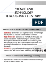 Science and Technology Throughout History