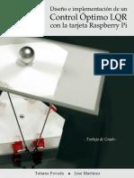 Diseño e implementación de un control óptimo LQR con la tarjeta Raspberry Pi