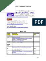 MARC Cataloging Cheat Sheet