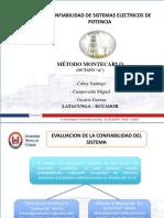 Metodo Montecarlo - Confiabilidad de SEP