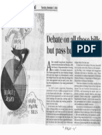 Manila Bulletin, Nov. 7, 2019, Debate on all those bills but pass budget first.pdf