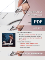 Chapter 4. Reformation of Instrument