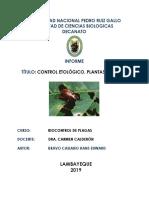 Control Etológico - Plantas Biocidas