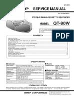 grabadora sharp QT90W