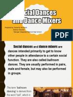 Social dance an dance mixers