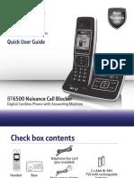 BT6500 Quick User Guide [Version 1]