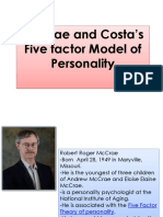 MODEL OF PERSONALITY